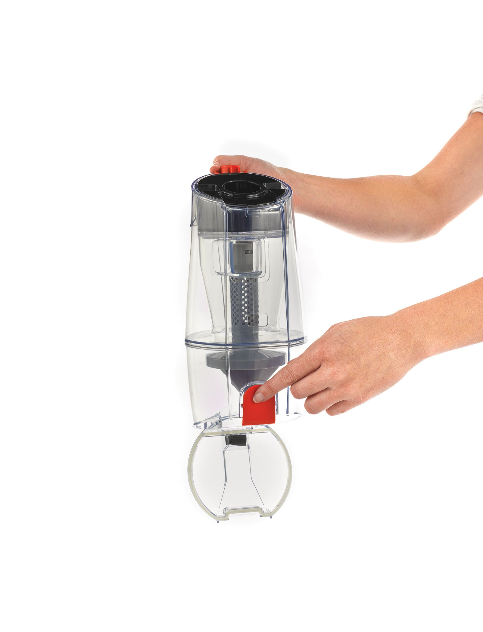 TaskVac Commercial Cordless Compact Upright - Dirt Cup