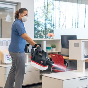 Hoover Commercial Electrostatic Sprayer in office